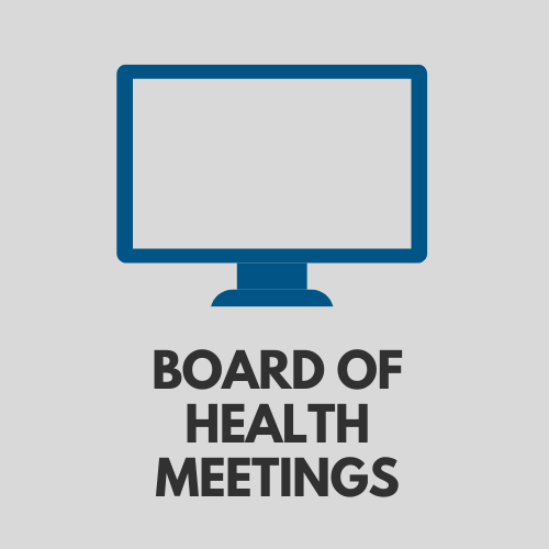 Board of Health Meetings webpage